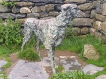 Sculpture at Gelert's Grave